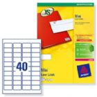 Avery Mini Labels Laser 40 per Sheet 45.7x25.4mm White Ref L7654-25 [1000 Labels]